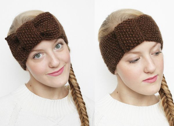 Simple Pattern For A Knitted 2in1 Bowturban Headband Crochet