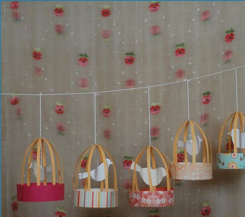 Just Sweet...paper Decor | Bird Cage, Charm, Diy, Home