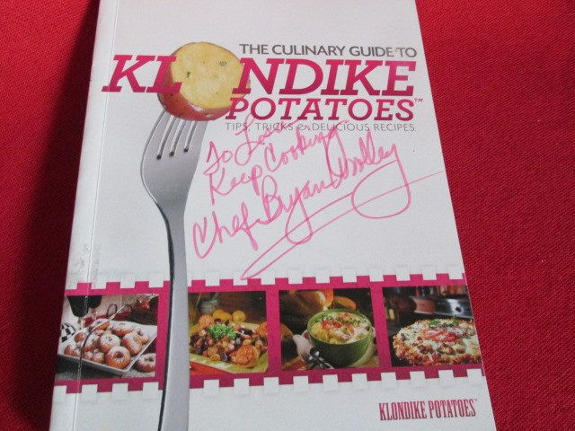 "Signed Cookbook, ""The Culinary Guide to Klondike Potatoes"" by Chef Bryan Woolley by TheBookE on Etsy"