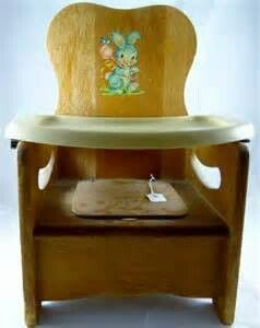 wooden potty chair tub covers spotlight vintage pinterest and tray