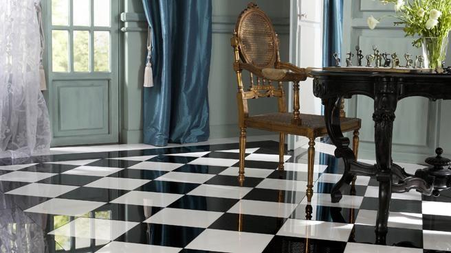 Le Carrelage Nous Fait De L Effet Tuile Contemporaine Deco Chambre Noir Et Blanc Decoration Interieur Maison