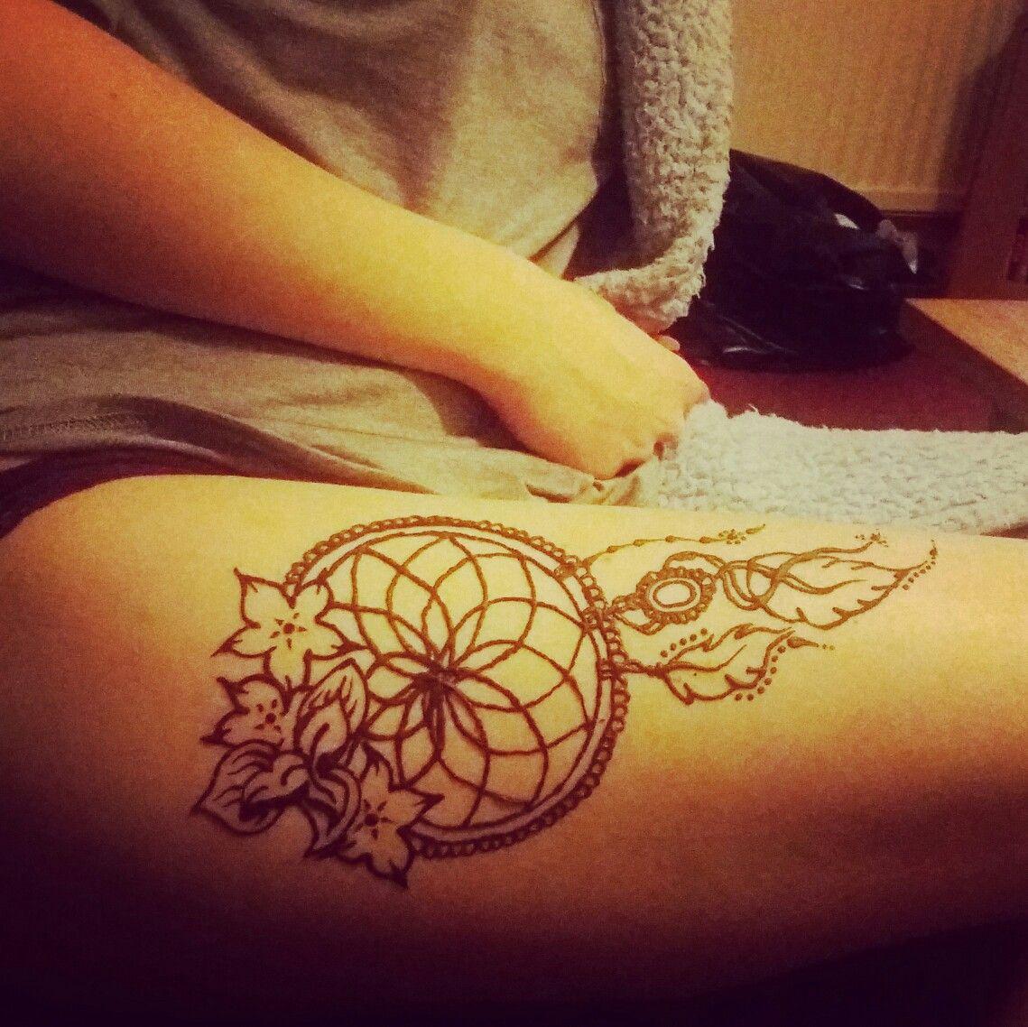Mehndi Leg Quotes : Dream catcher leg henna tattoo tattoos pinterest
