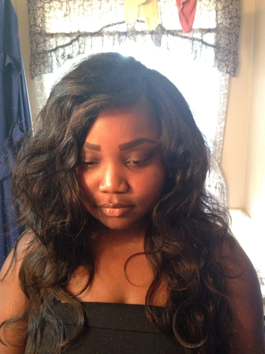 Full weave with little leave out humanehair braids by lavina