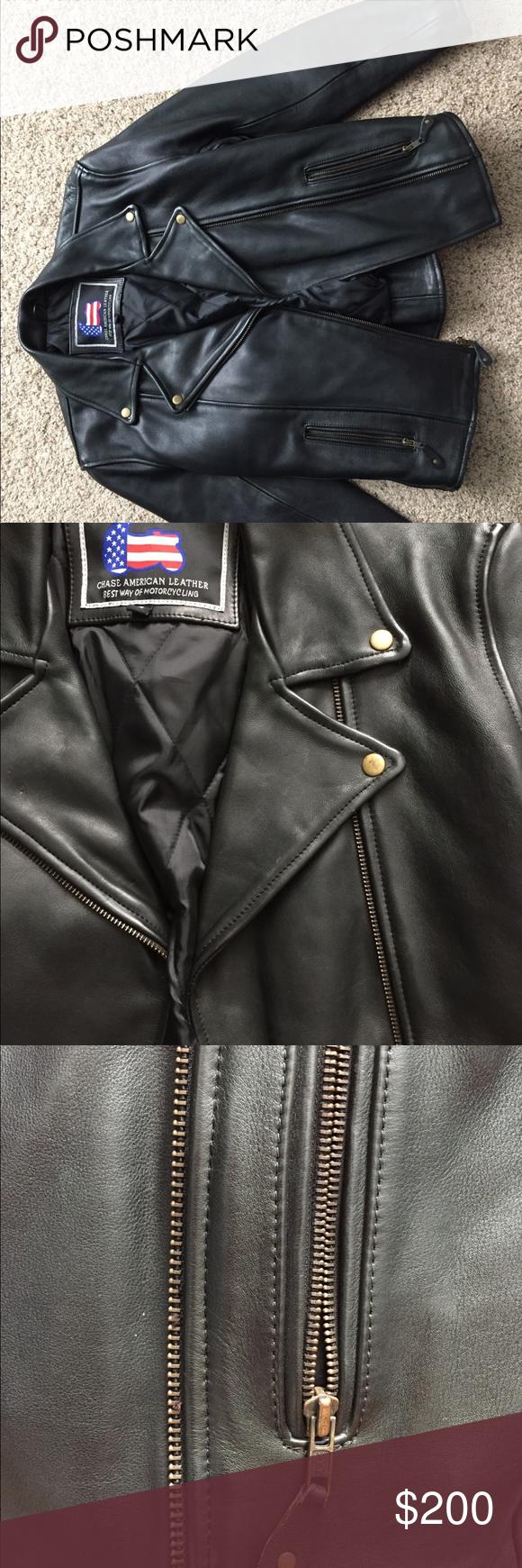 Chase American Leather Motorcycle Jacket Heavy Leather Motorcycle Jacket Black Leather With Antiqued American Leather Leather Jacket Leather Motorcycle Jacket [ 1740 x 580 Pixel ]