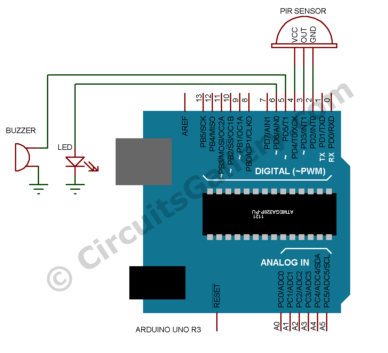 build arduino based home security system using pir motion