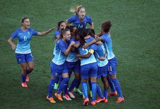 Blog Esportivo do Suíço:  Com gol olímpico e festa de Formiga, Brasil vence Colômbia e leva o ouro