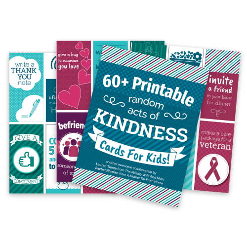 Printable Random Acts of Kindness Cards #discipline