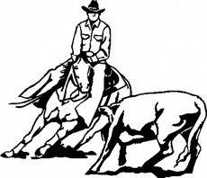 images of cutting horse clip art running horse clip art free rh pinterest com Team Roping Artwork free team roping clipart