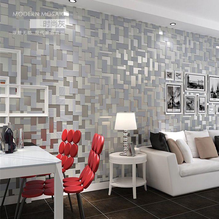 Mosaico En Pared Moderno Decoracion Tendencia Creativa Decoracion Mosaico En Espejo Decora Papel Tapiz Para Salas Tapiz De Pared Tapices Para Salas