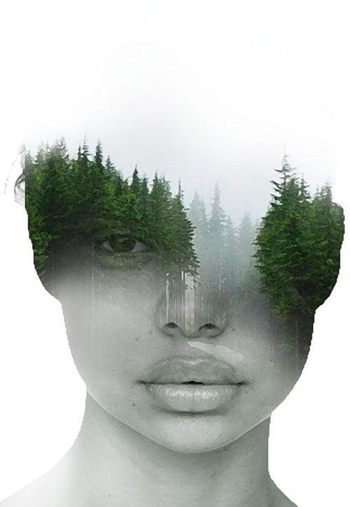 Surreal Portraits Blend Mystical Landscapes With Reality Surreal Portrait Portraiture Photography Surrealism Photography