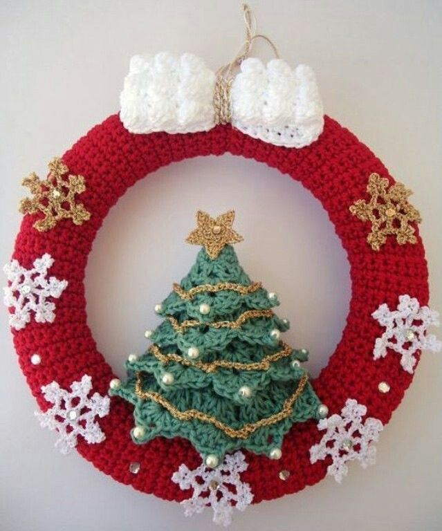 Corona Diy And Crafts Pinterest Crochet Christmas Crochet