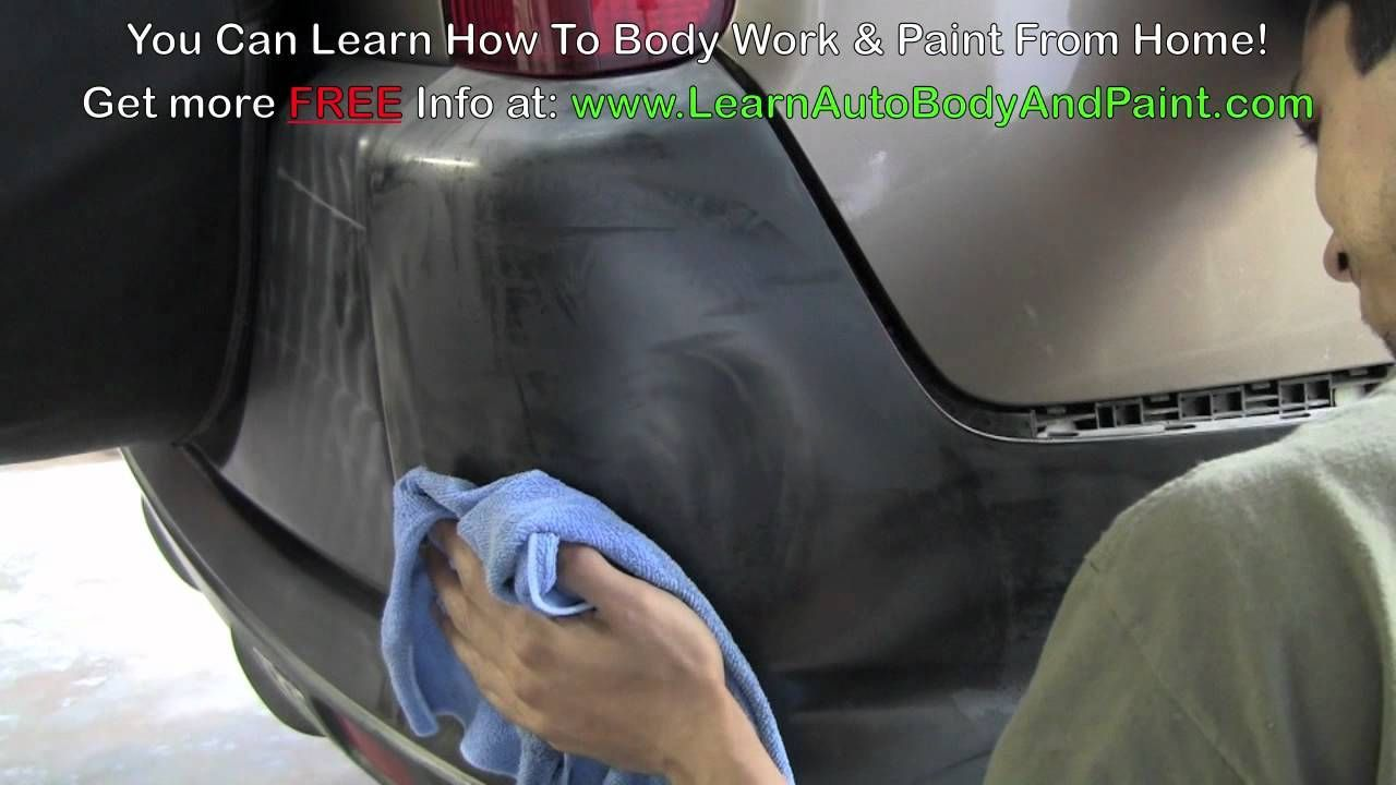 How to repair plastic bumper covers plastic bumper