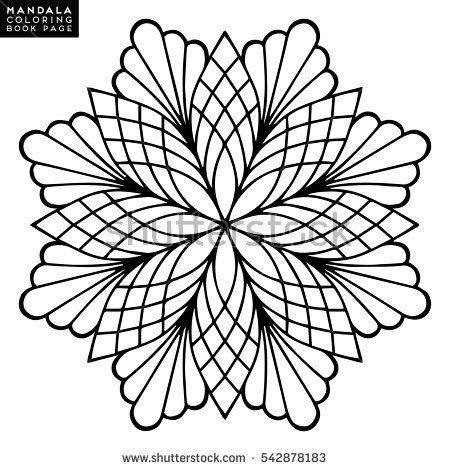 Photo of Vetor stock de Flower Mandala vintage decorative elements Oriental (livre de direitos) 542878183