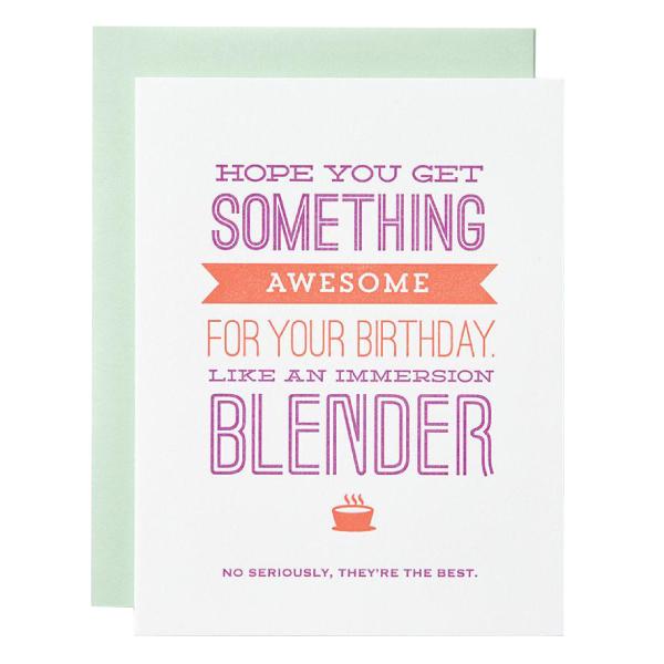 Immersion Blender Birthday Birthday Cards For Girlfriend Birthday Cards For Her Birthday Cards For Friends