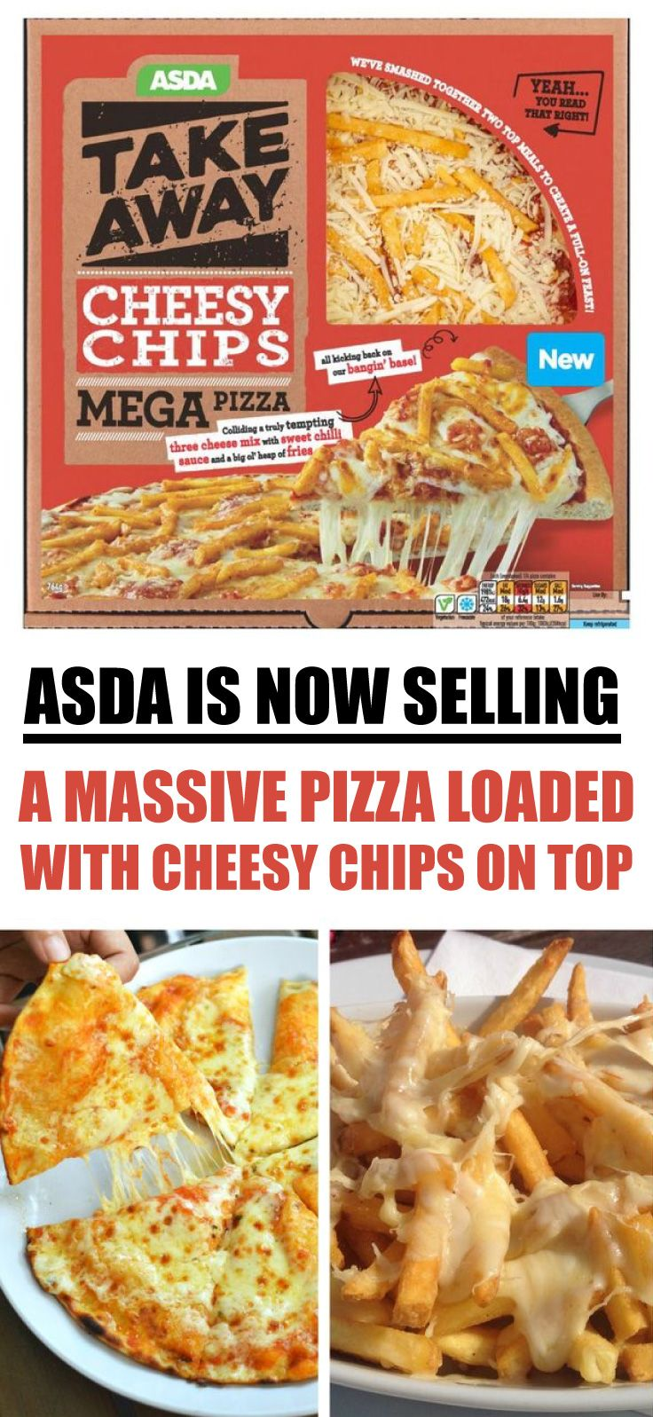 Cheesy Chip Mega Pizza Available Soon Asda Cheesy Chips Chips