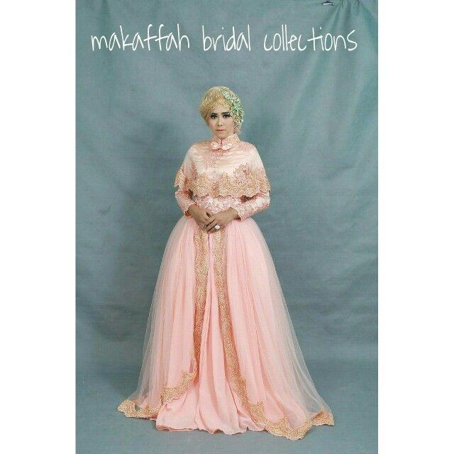 Peach wedding gown | Baju Akad dan Resepsi Pernikahan | Pinterest ...