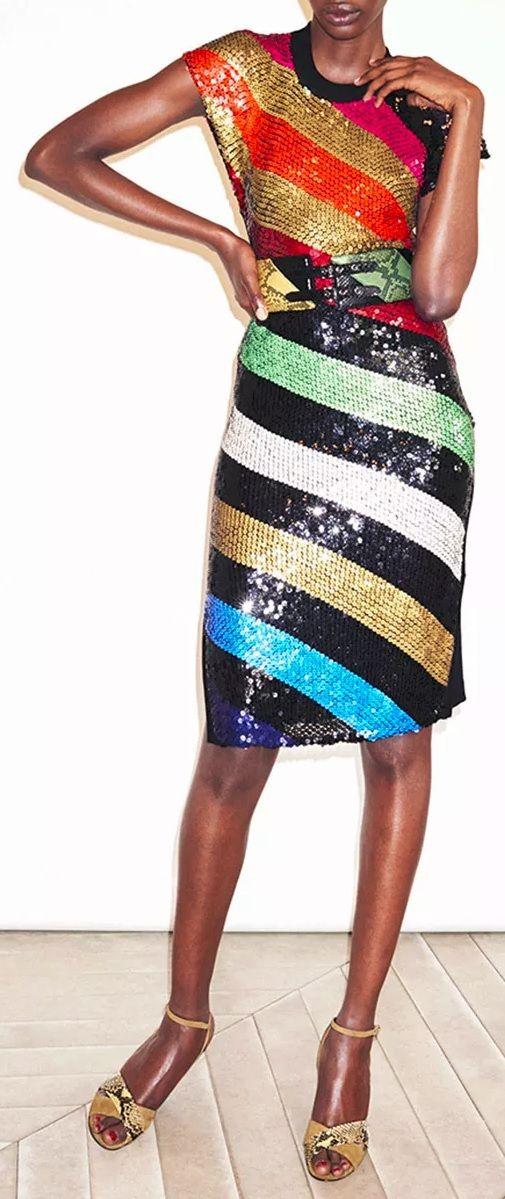 Sonia Rykiel Sequins Knit Dress