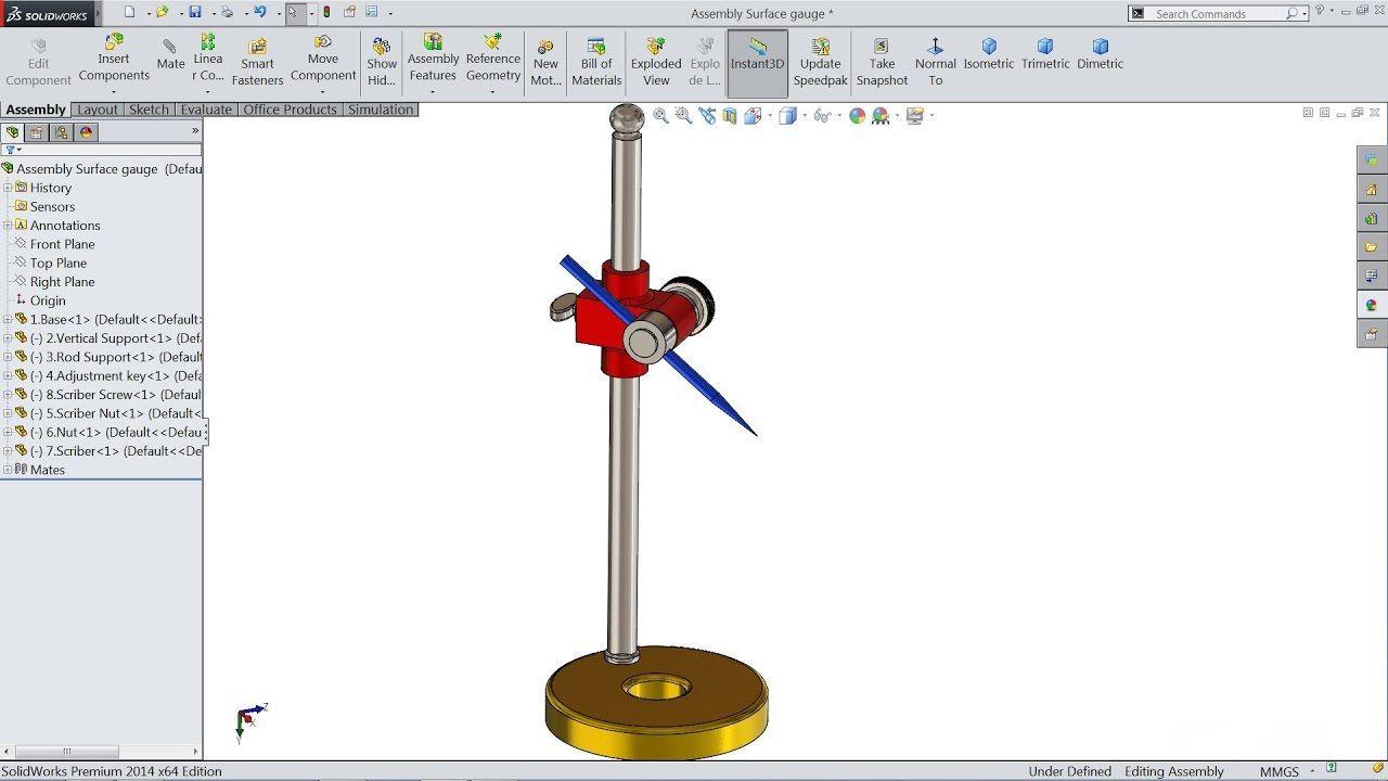 Solidworks tutorial | Sketch Surface gauge in Solidworks