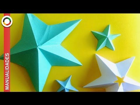 Como Hacer Estrellas De Papel De 5 Puntas Youtube Estrellas De Papel Manualidades Con Hojas De Papel Manualidades Con Hojas De Colores