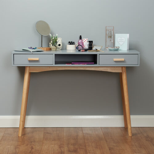 Grey Scandinavian Modern Bedroom Dressing Table Makeup Vanity Home Office Desk 5051990941991 Bedroom Dressing Table Dressing Room Decor Dressing Room Design