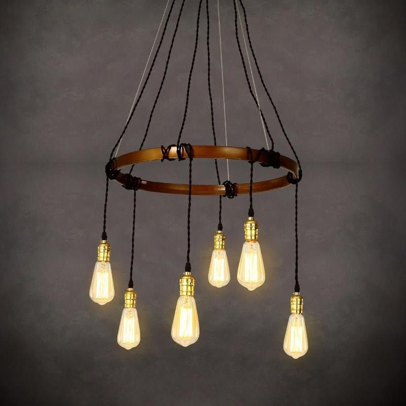Elegant Nordic Metal Retro Vintage Lamp Style Loft Industrial Light Edison Pendant  Lights Fixtures Hanglamp Lampara Colgante Lampen
