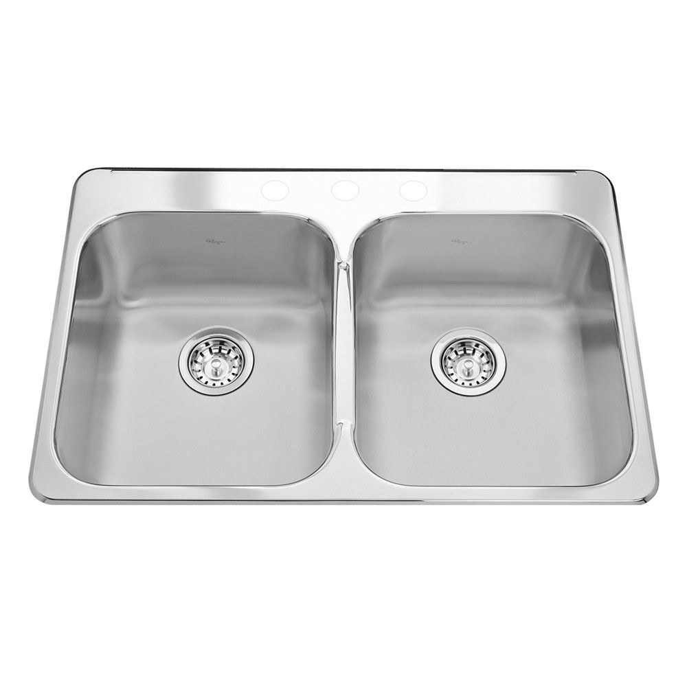 Kindred RDL2031 Reginox Topmount 31.25-in Double Kitchen Sink ...