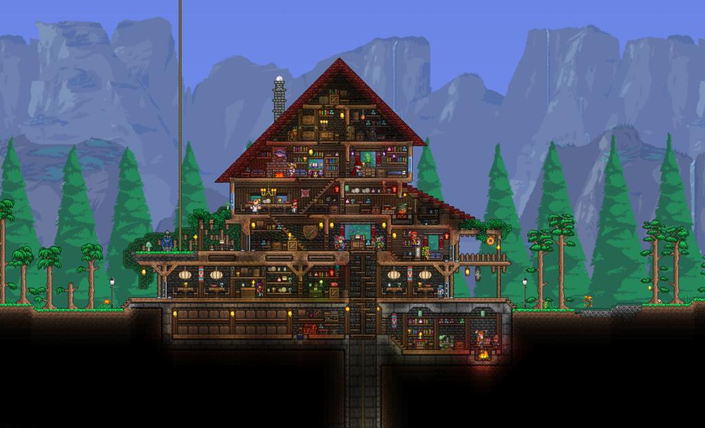My home base! Terraria Terrarium base