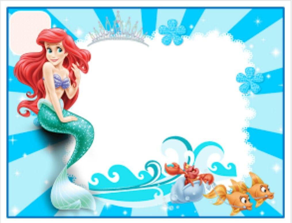 Ariel invitation invitation Pinterest Ariel Free printable