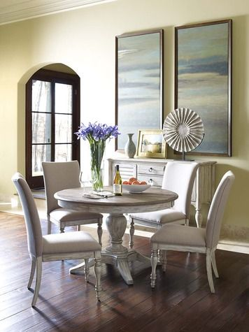 Weatherford Cornsilk Milford Extendable Round Dining Table Round Dining Table Dining Table Dining Room Sets