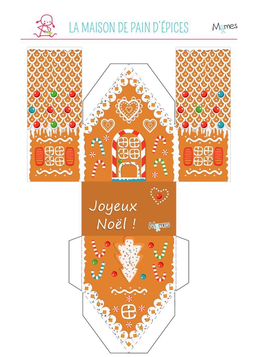 Préférence Maison en pain d'épices à imprimer | Pain, Noël et Maisons YO15
