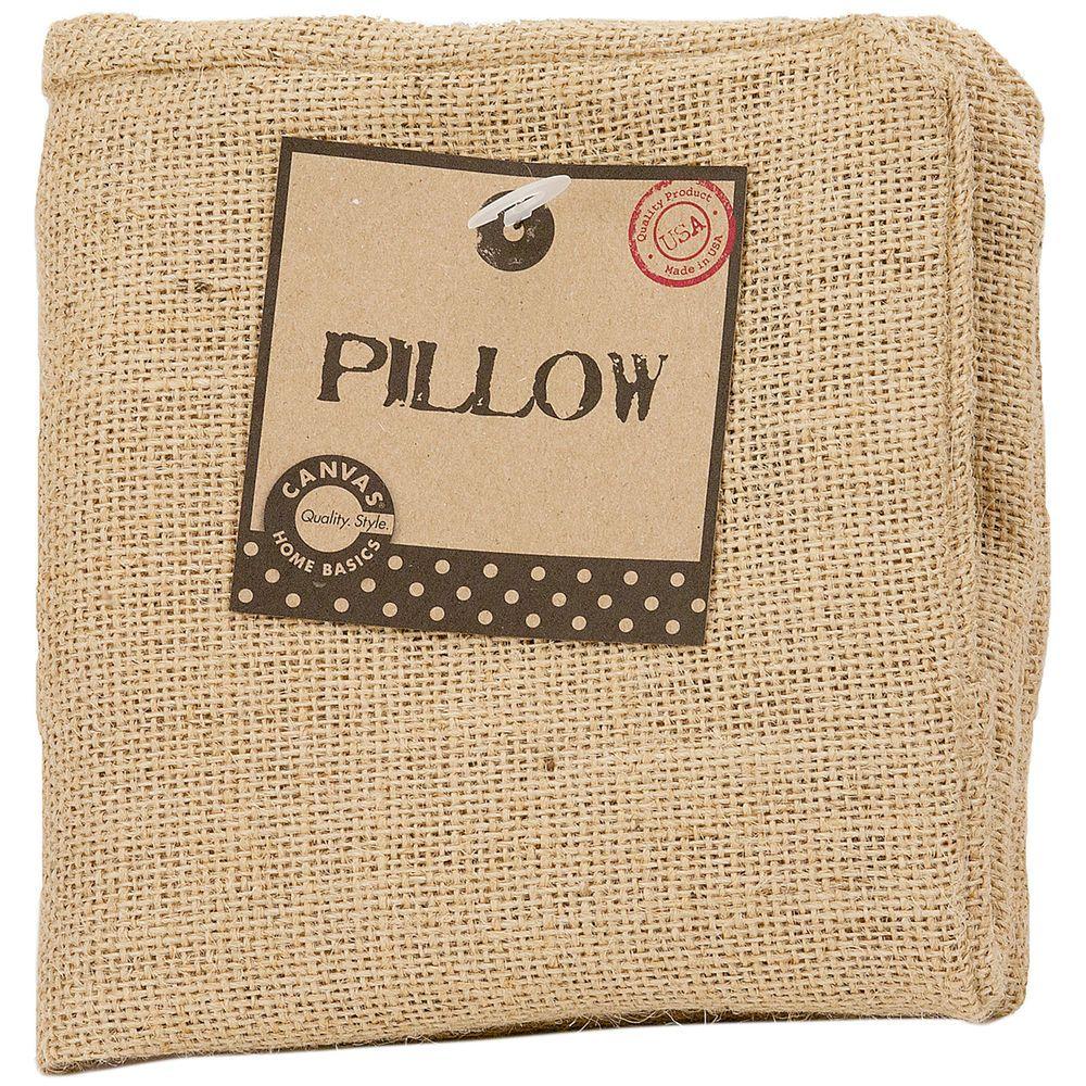 "Burlap Pillow Square 12""X12""-Natural"