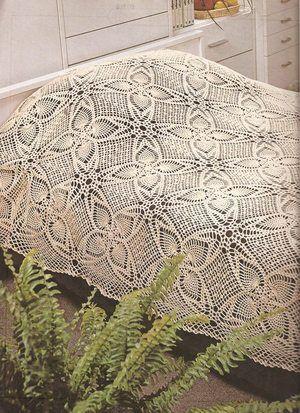 Crochet Bedspread Pattern Bedspread & Pillow | Bastelarbeiten ...