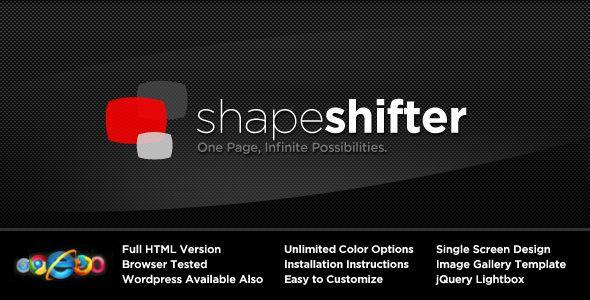 Follow Me! Description: ShapeShifter is a single-page