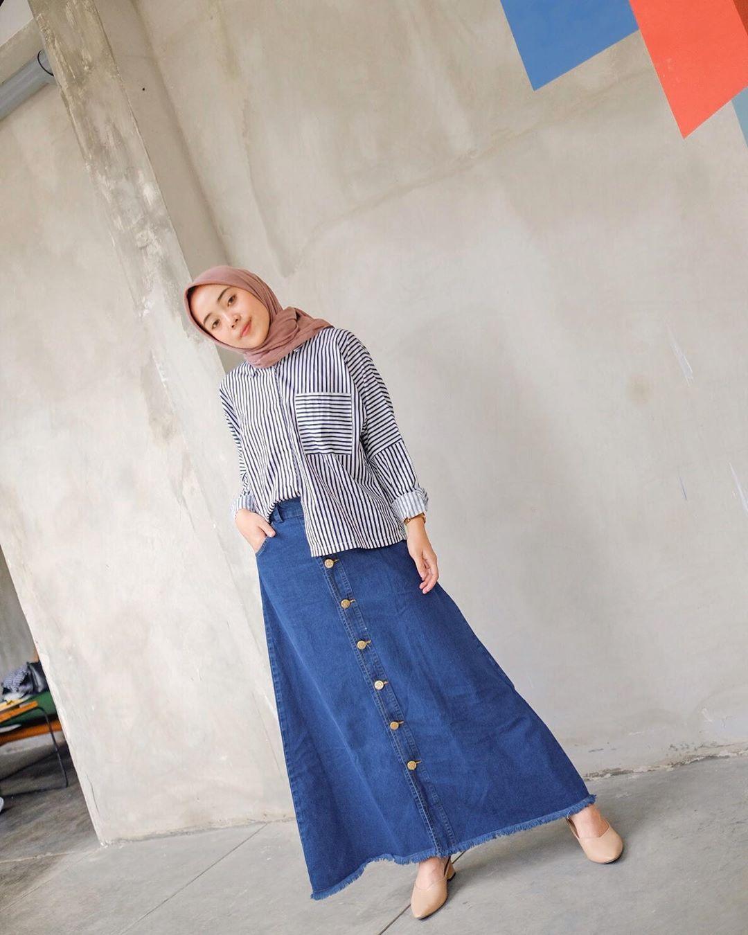 Putrimelatii Casual Hijab Outfit Perlengkapan Hijab Gaya Kasual