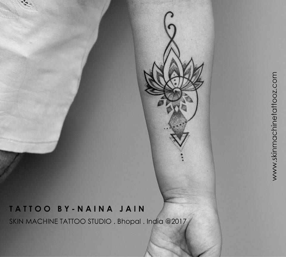 bb3b234f6 Lotus mandala tattoo by Naina Jain @nains_tattoos At - SKIN MACHINE TATTOO  STUDIO www.
