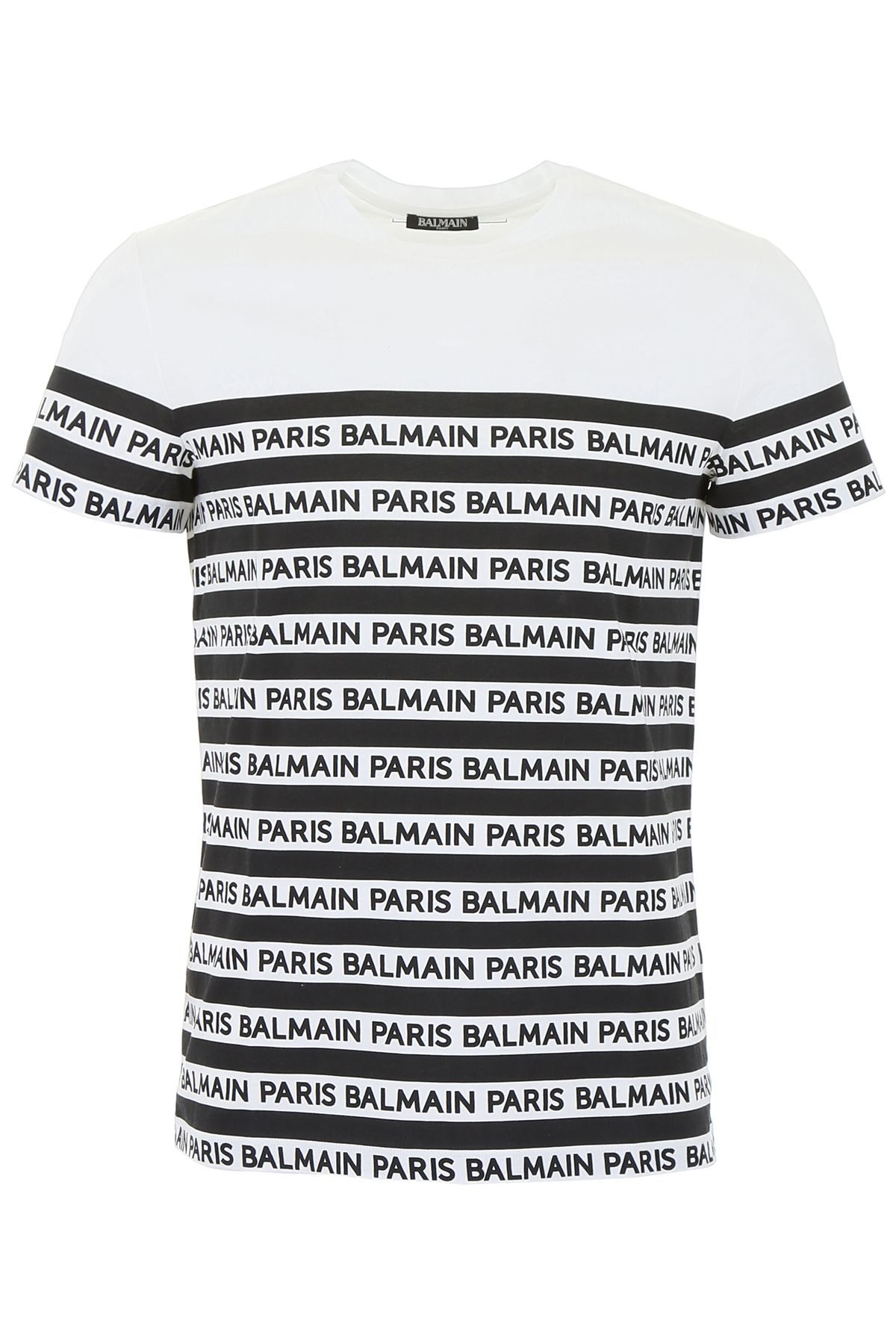 wholesale online uk store meet BALMAIN MARINIÈRE LOGO T-SHIRT. #balmain #cloth | Balmain in ...