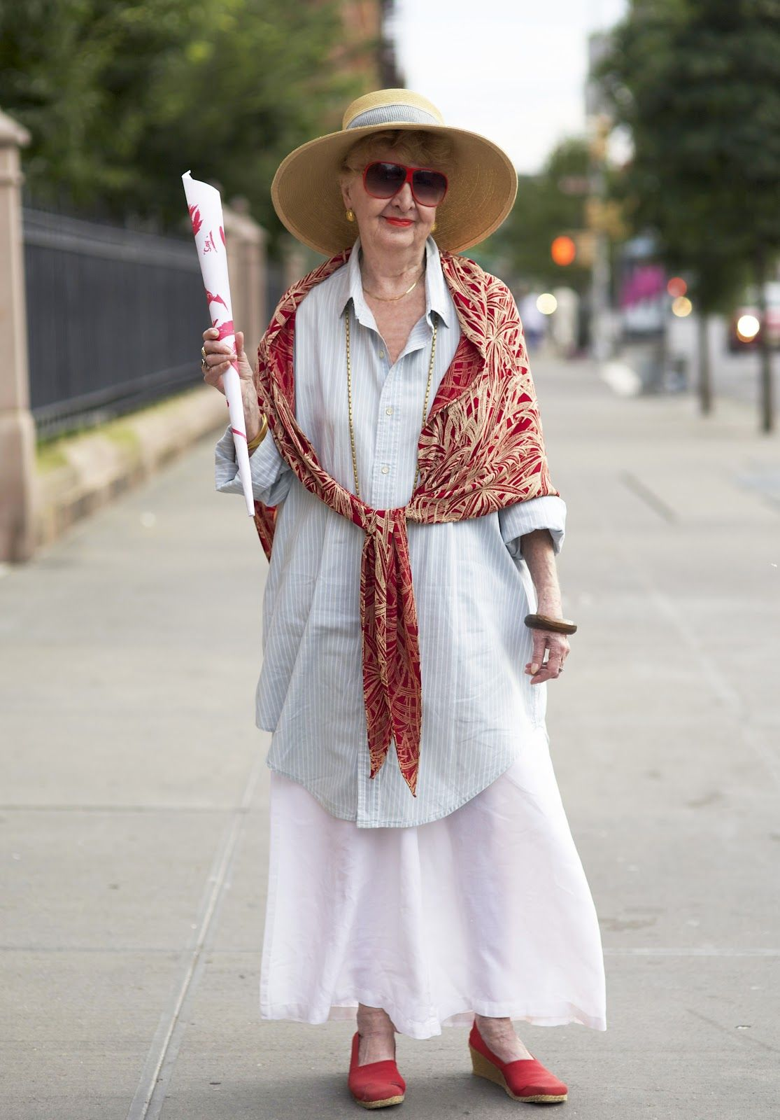 ADVANCED STYLE: Red, White, and I ran into this woman in ...
