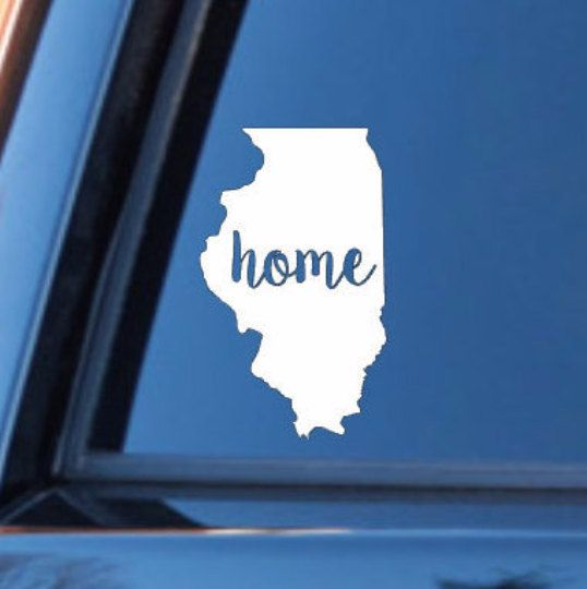 Illinois home decal illinios state decal homestate decals love sticker love decal