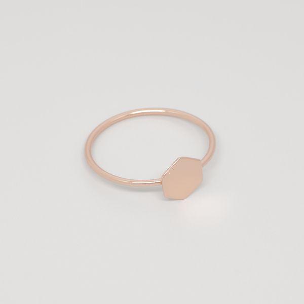 Photo of fejn jewelry Ring 'Shiny Hexagon'