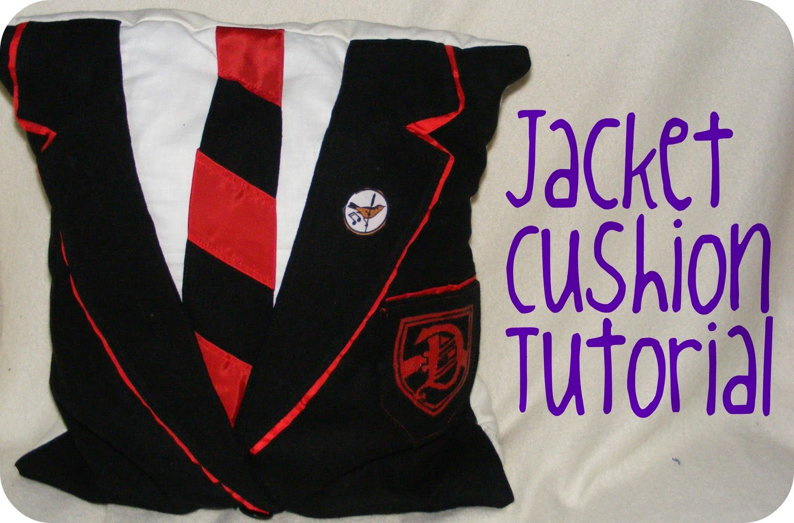 Harry potter and glee dalton warblers blazer cushion these are so