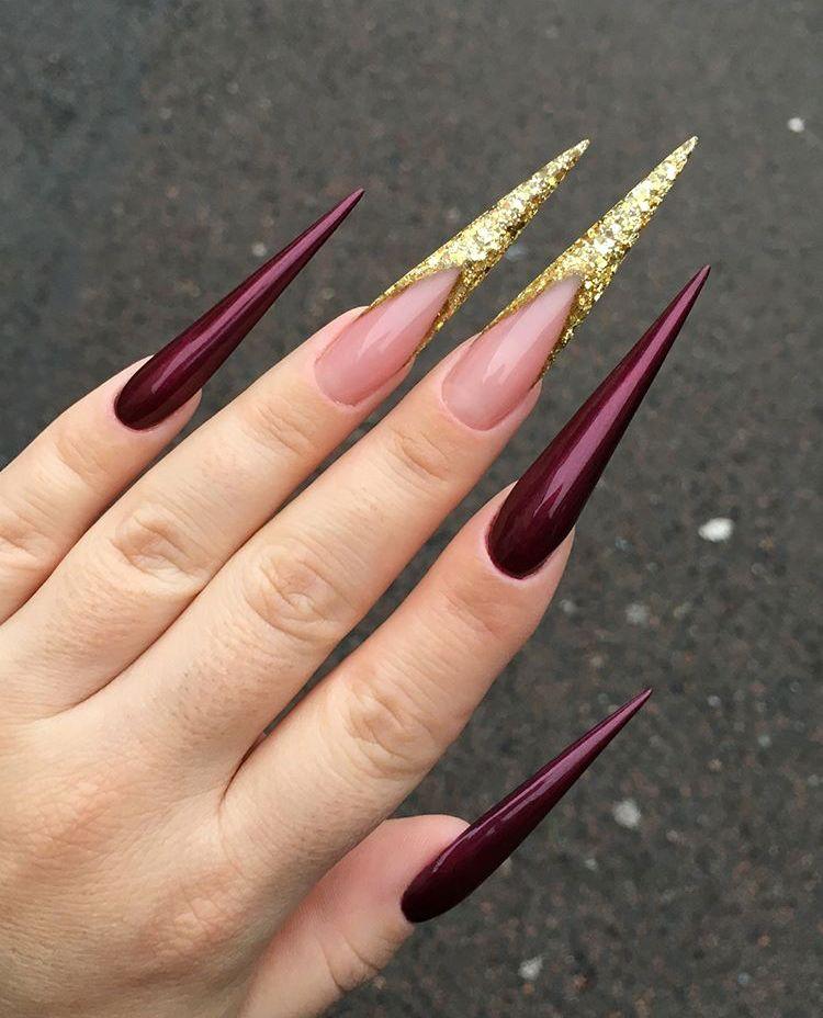 Check Out Imanityee Long Acrylic Nails Long Stiletto Nails Glam Nails