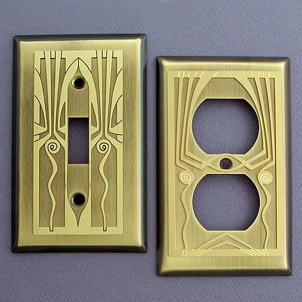 Antique Brass Wall Plates Delectable Retro Art Deco Antique Brass Switch Plates And Outlet Covers  For 2018