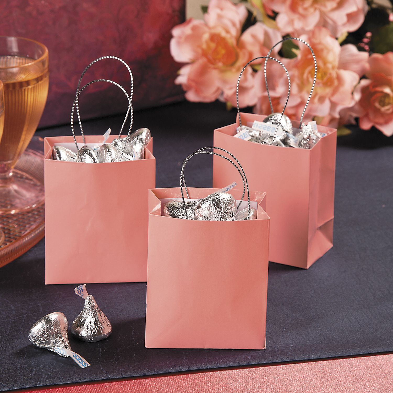 Beautiful little gift bags for tiny favors! Pair with your coral ...