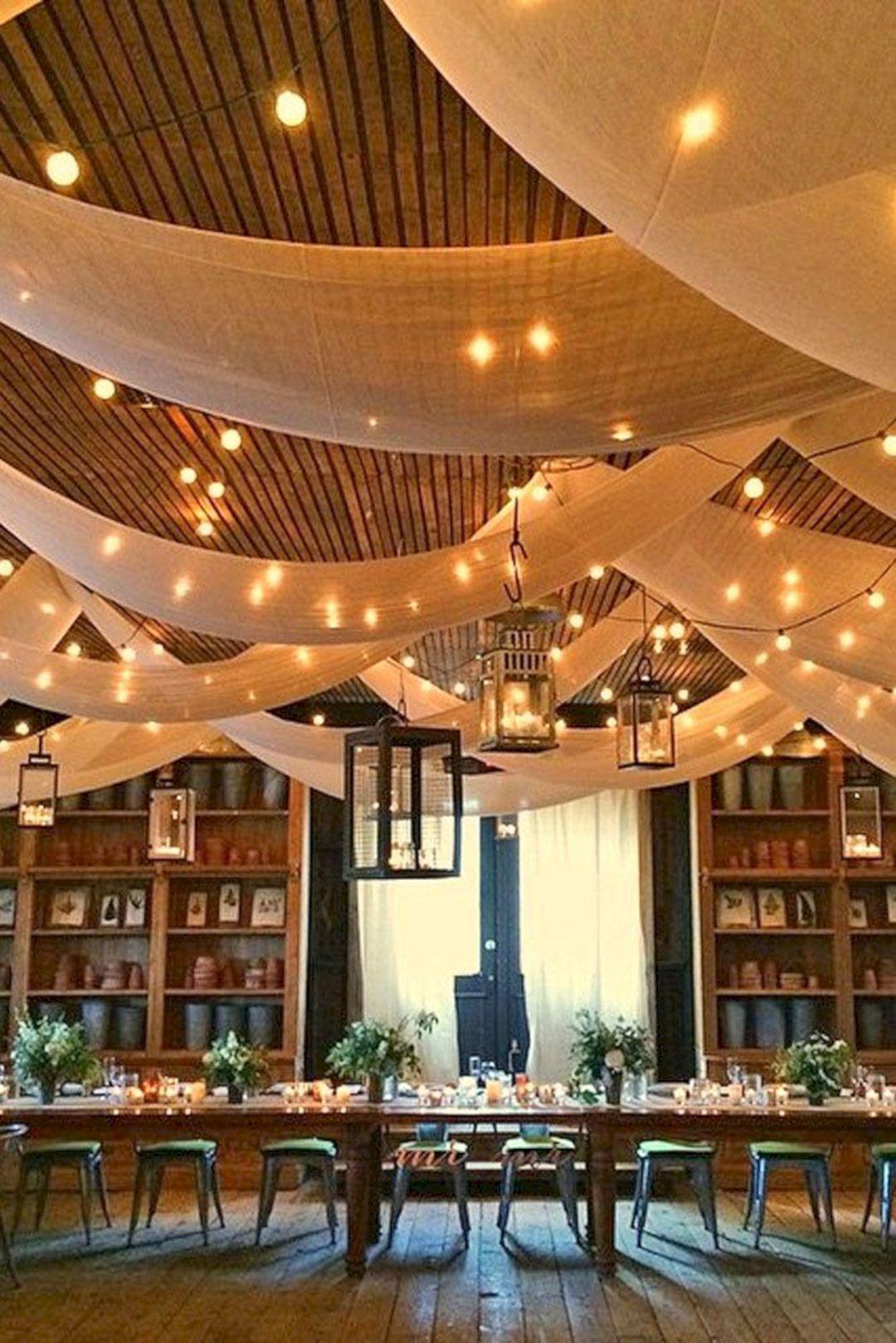 Wedding decoration ideas for hall   Awesome Lantern Greenery Wedding Centerpiece Ideas  Wedding