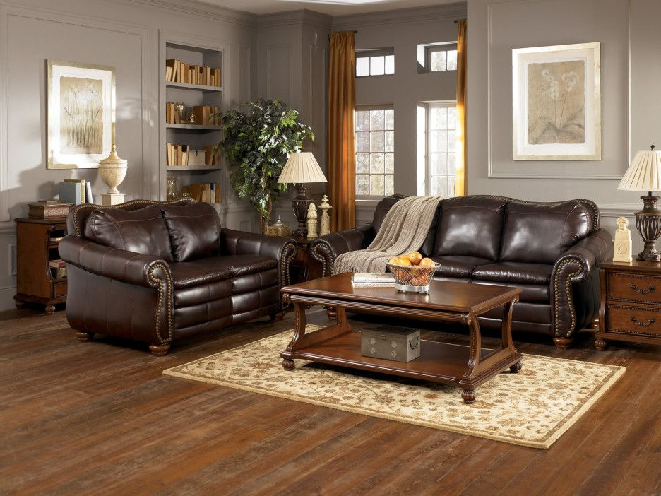 Best Furniture Brown Leather Three Seat Couch And Love Seat 400 x 300