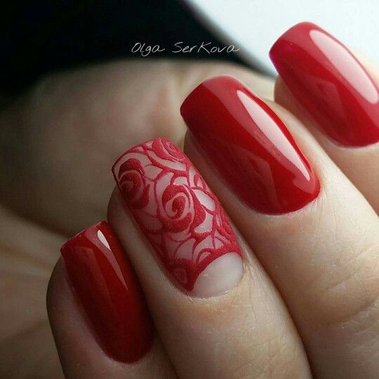 In nail red sexy