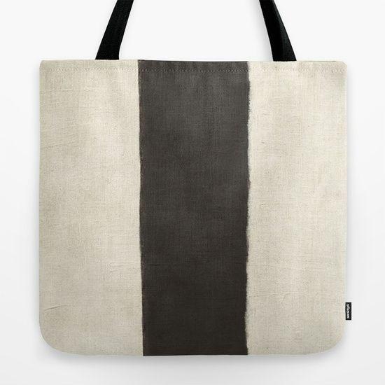 White Black Tote Bag