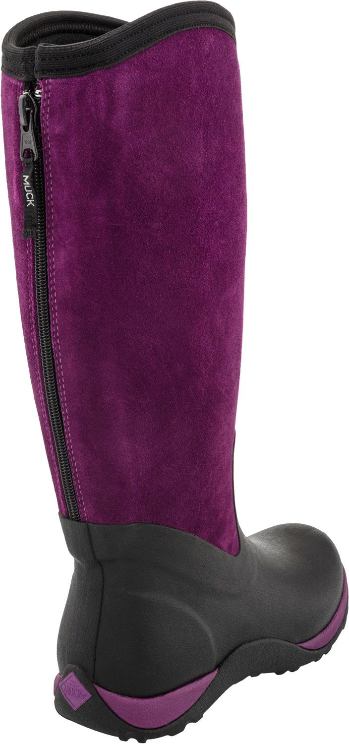a31f47bc5 Muck Boots Arctic Adventure Zip Suede (Black/Maroon) How do I LOVE these  warm and waterproof winter boots?? They're comfort rated for as low as -20  F! Bring ...