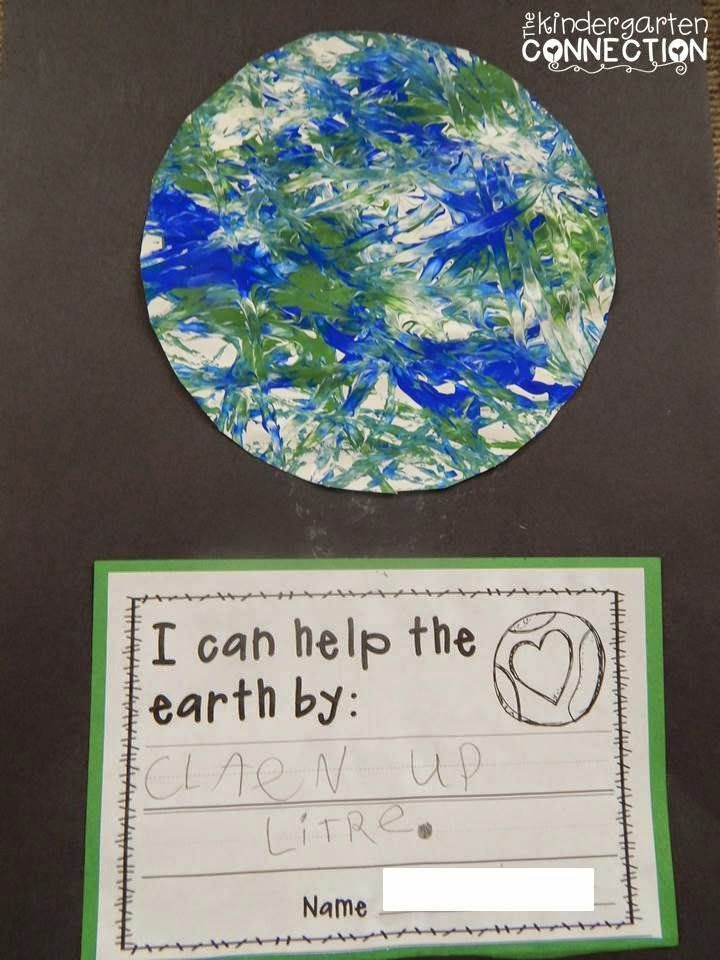 FREE Printable Earth Day Writing Activity and Craft Project for Kids! #marblepainting