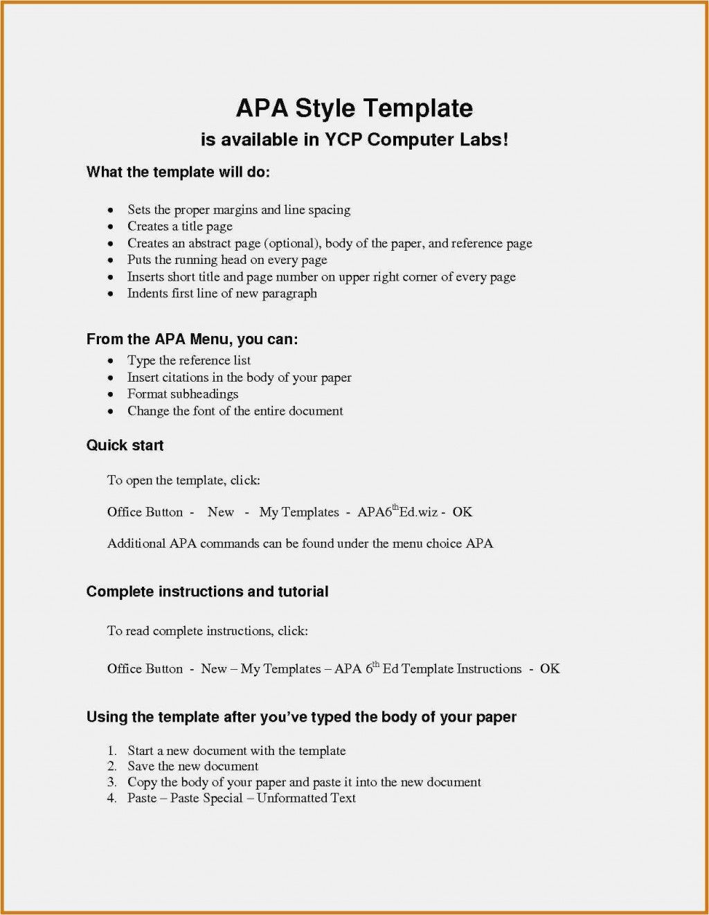 012 Template Ideas Apa Reference Page Format In Word Style